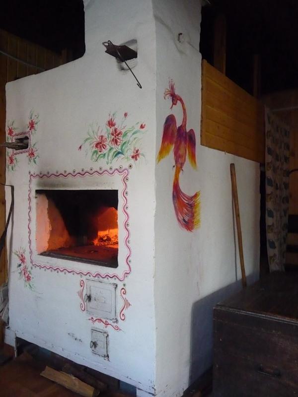 Как разукрасить печь в доме своими руками фото