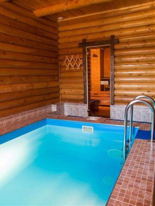 Фото бань с бассейном своими руками